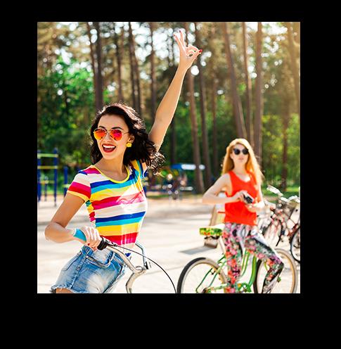 Wycieczka rowerowa z przyjaciółmi